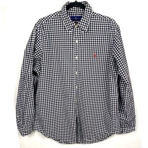 Polo Ralph Lauren Gingham Button Down Shirt sz L